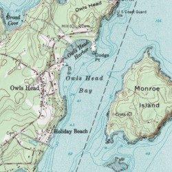 owls head maine map Owls Head Bay Knox County Maine Bay Rockland Usgs Topographic owls head maine map